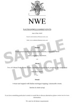 sample menu lunch